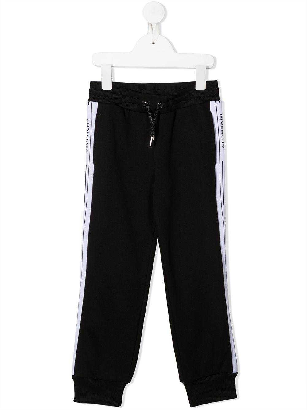 GIVENCHY KIDS Logo Tape Sweatpants Black/White