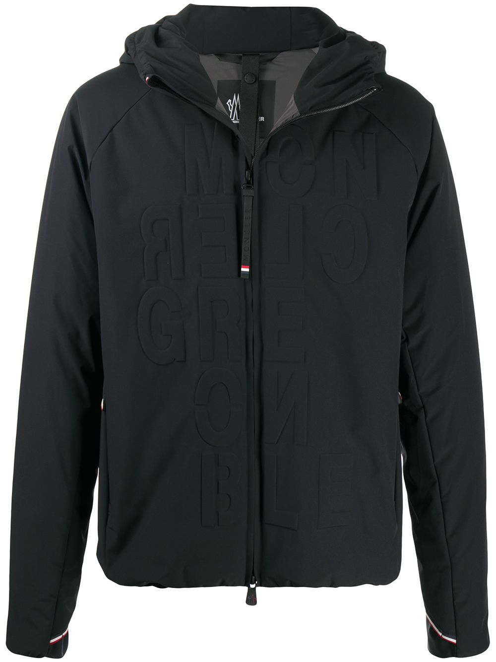 MONCLER GRENOBLE Logo Embossed Jacket Black