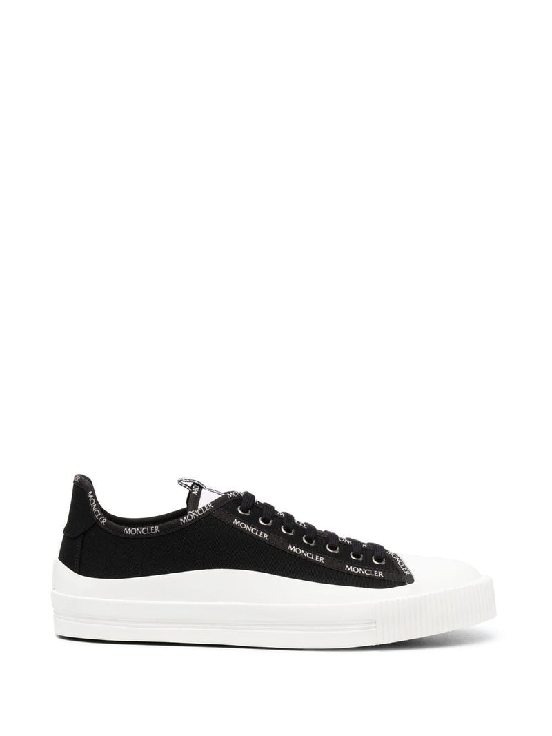 MONCLER Glissiere Low Top Canvas Sneakers Black