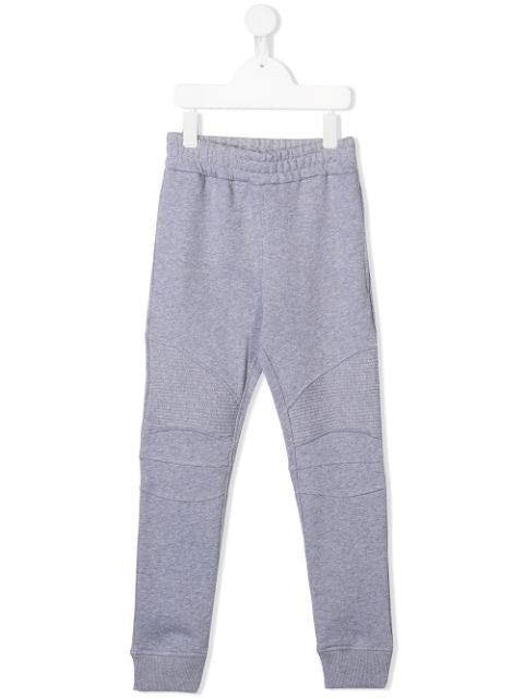 BALMAIN KIDS stitched panel track pants grey grey - Maison De Fashion