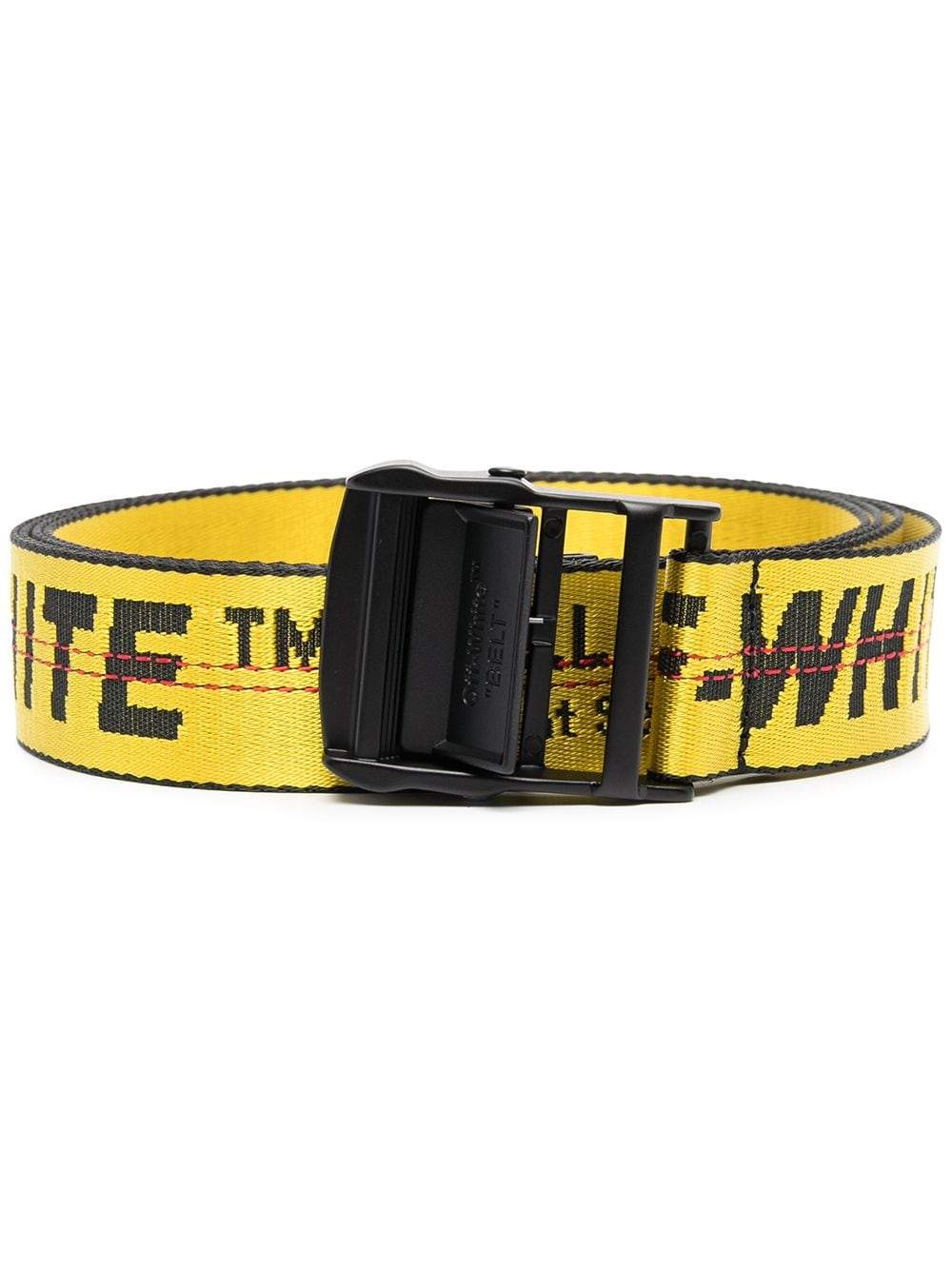 OFF-WHITE WOMEN Industrial Logo Belt Yellow