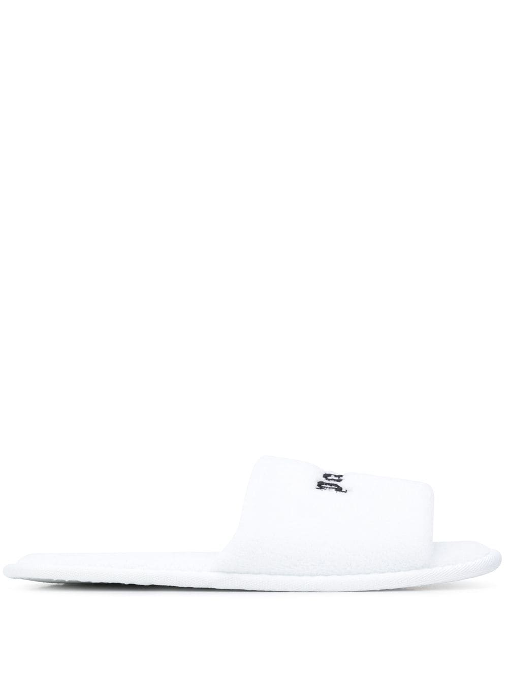 PALM ANGELS Logo Slippers White