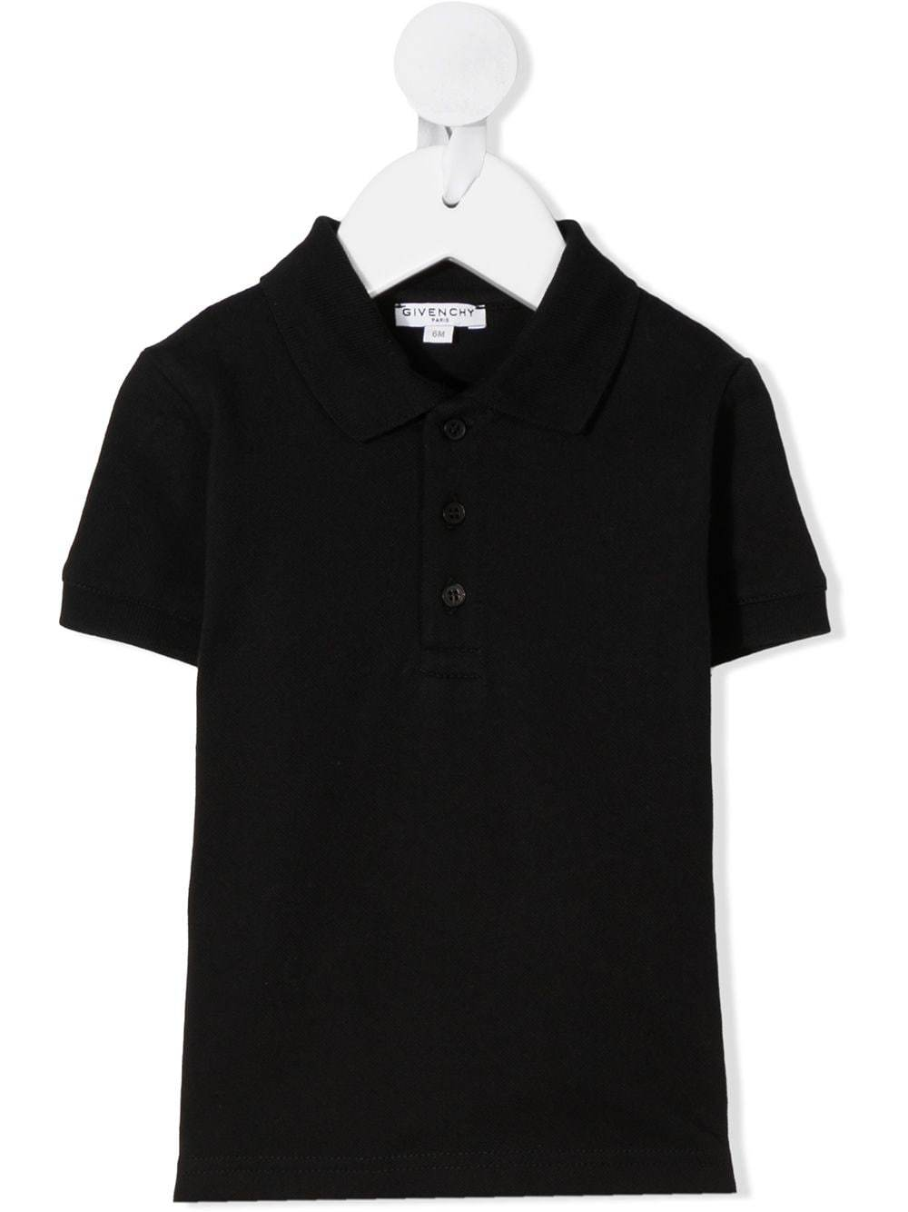GIVENCHY KIDS Logo Polo Shirt Black