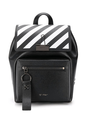 OFF-WHITE diagonal print binder backpack - Maison De Fashion