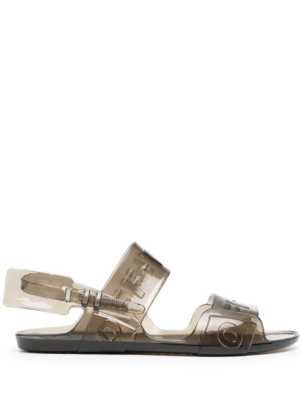 Off-White Women's Jelly Sandal Grey - Maison De Fashion