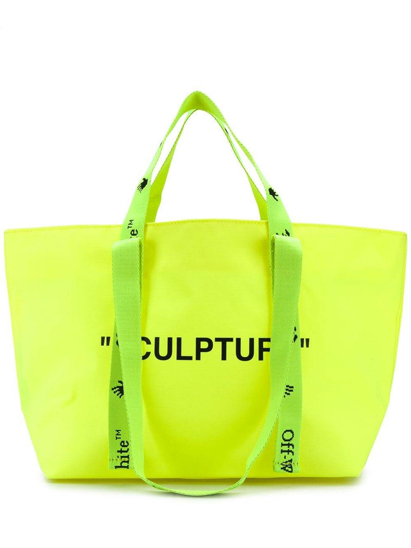 OFF-WHITE Sculpture Small Tote Bag Yellow/Black