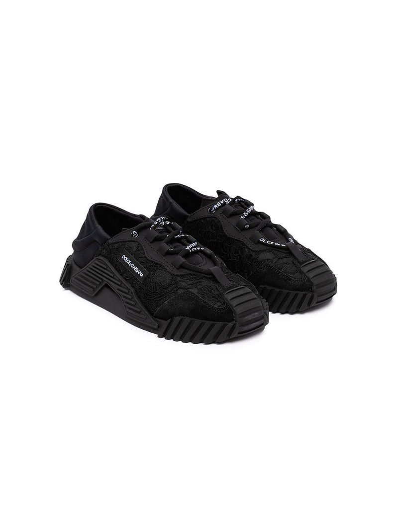 DOLCE & GABBANA KIDS Low-top sneakers Black