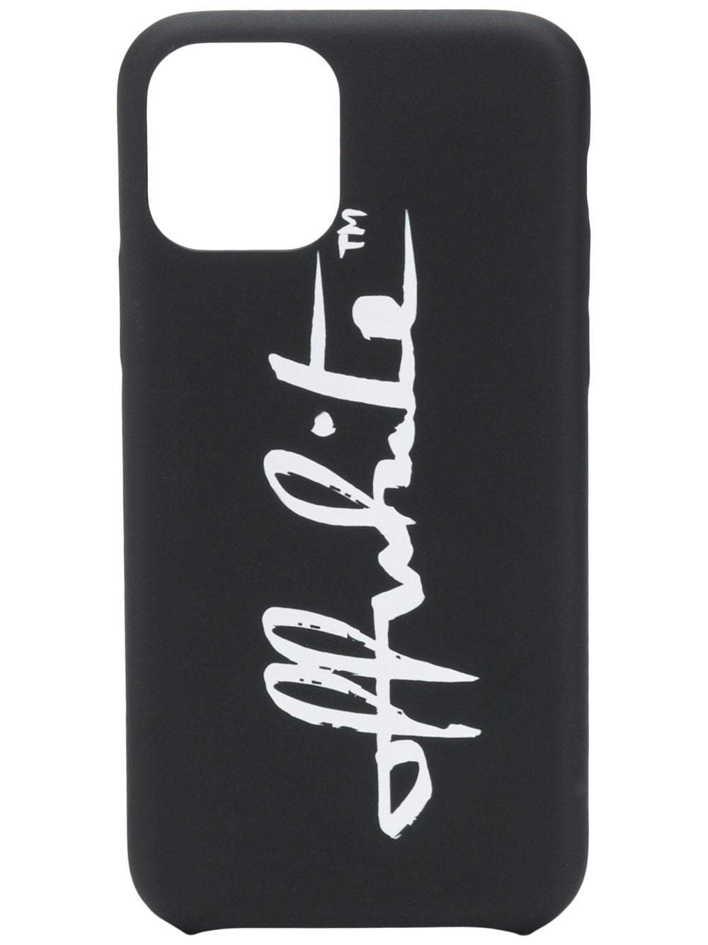 OFF-WHITE logo iPhone 11 Pro case black/white