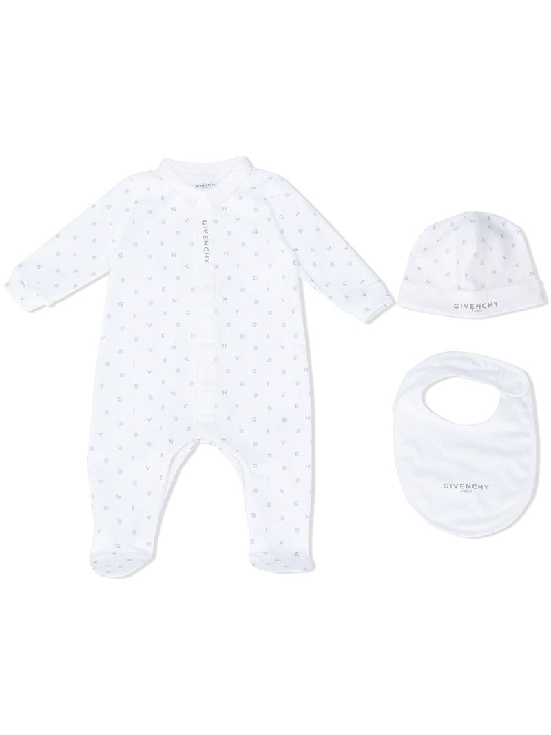 GIVENCHY KIDS Logo Monogram Babygrow Set White - Maison De Fashion