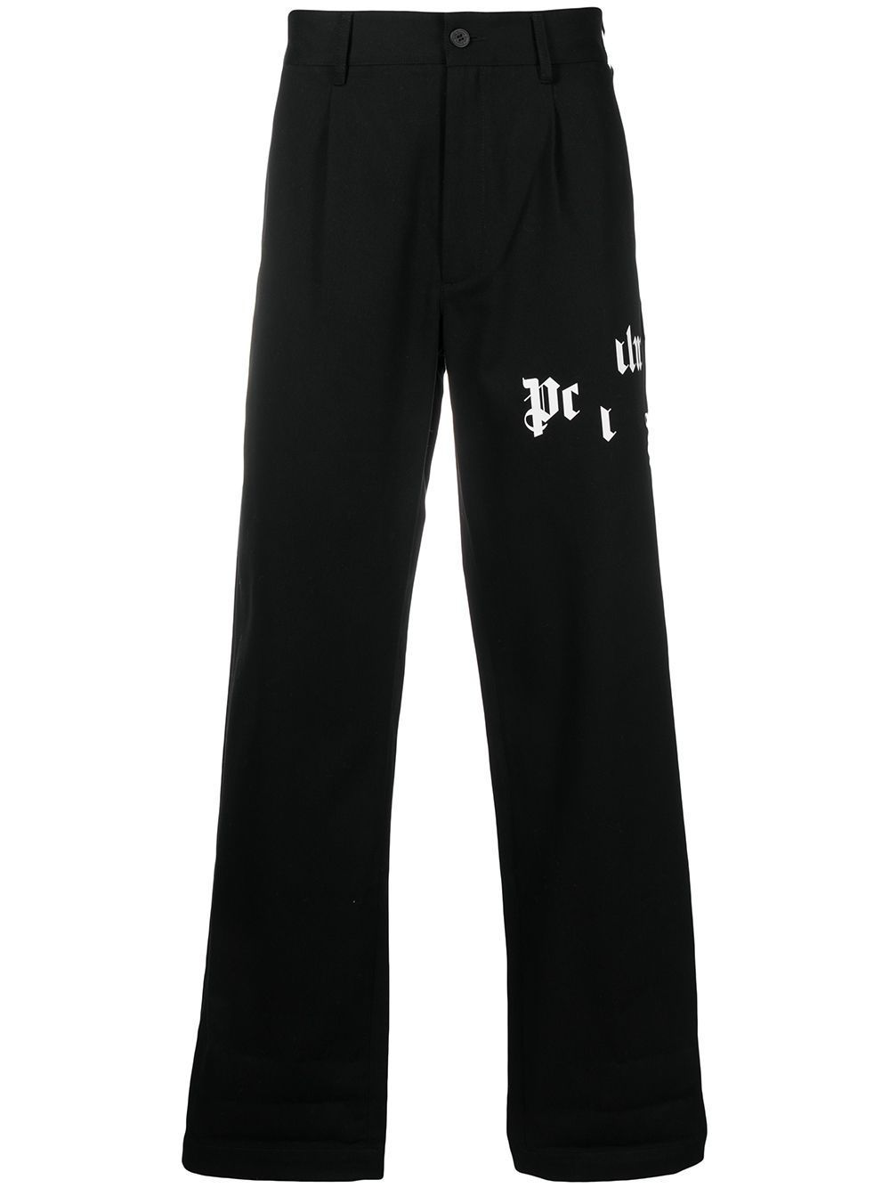 PALM ANGELS Broken Logo Chinos Black - Maison De Fashion