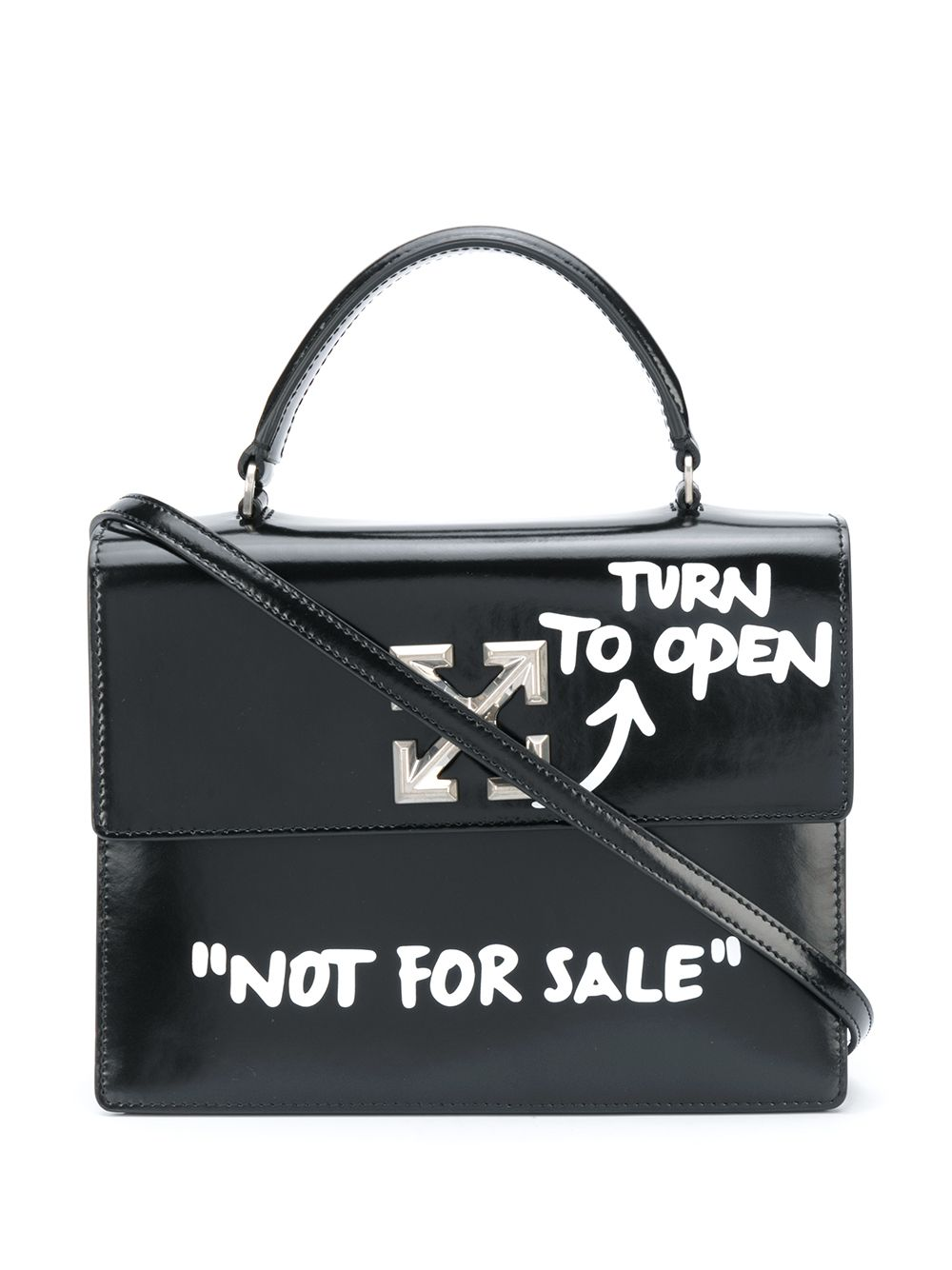 OFF-WHITE Jitney 2.8 Cash Inside Shoulder Bag Black