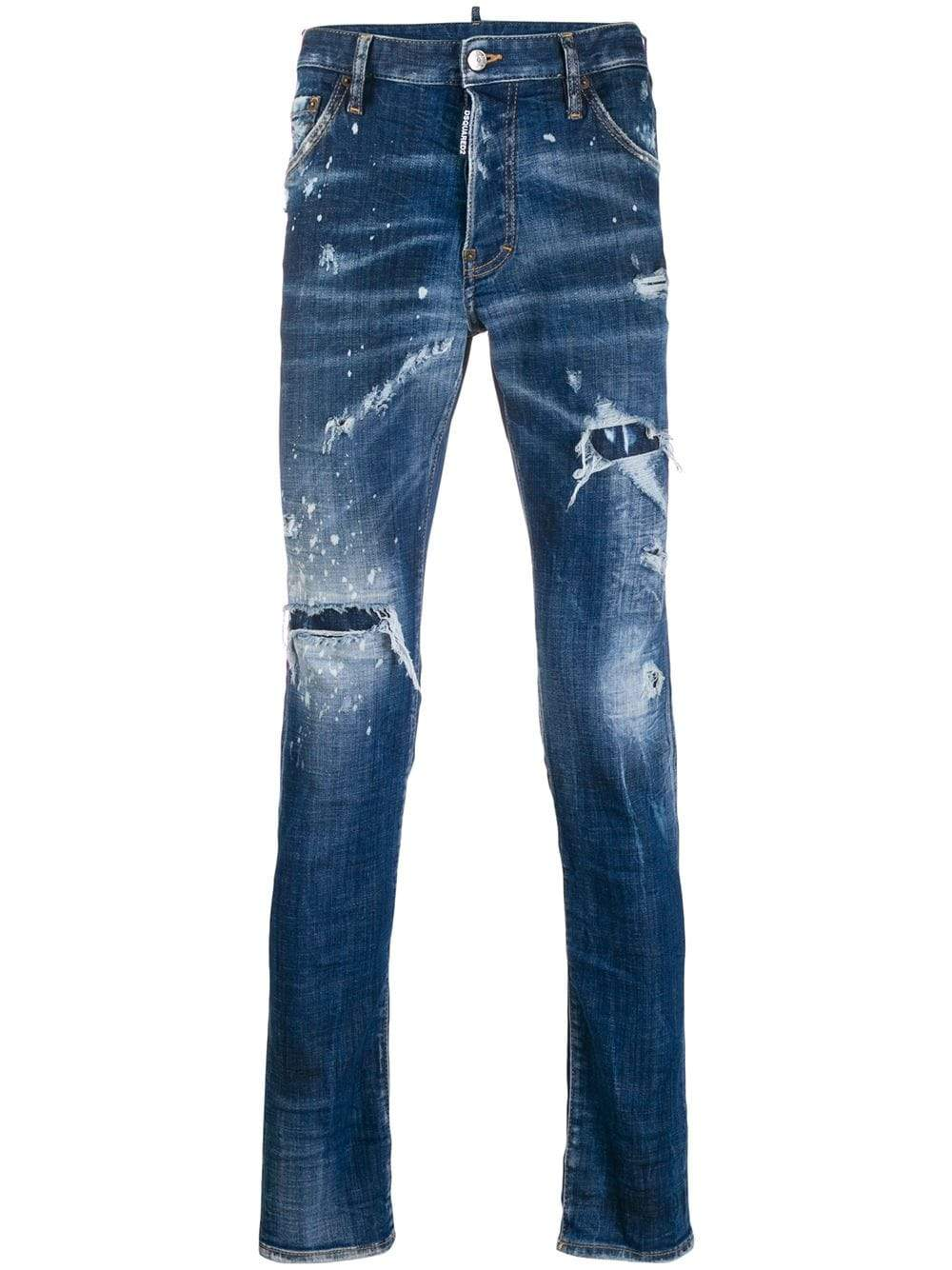 DSQUARED2 Cool Guy Logo Patch Jeans