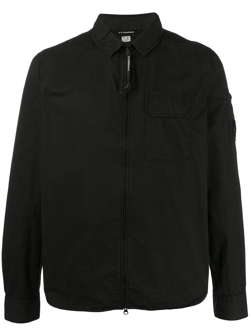 C.P. COMPANY lens detail zip-up shirt jacket