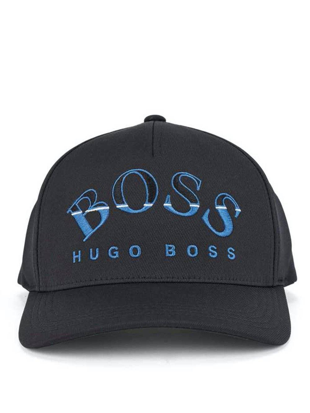 BOSS Curved Logo Cap Black/Blue