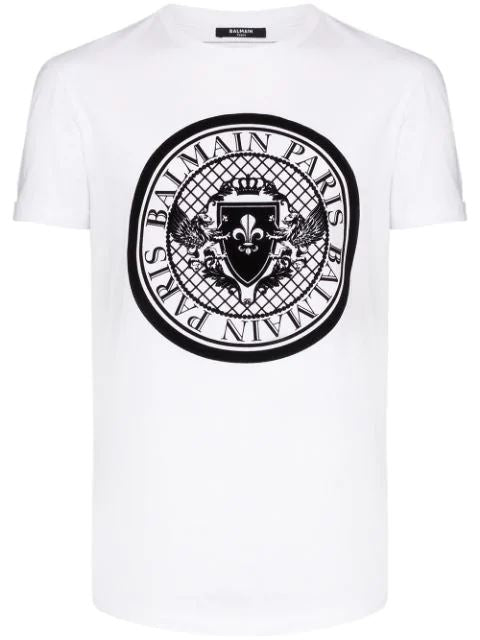 BALMAIN medallion print t-shirt white - Maison De Fashion