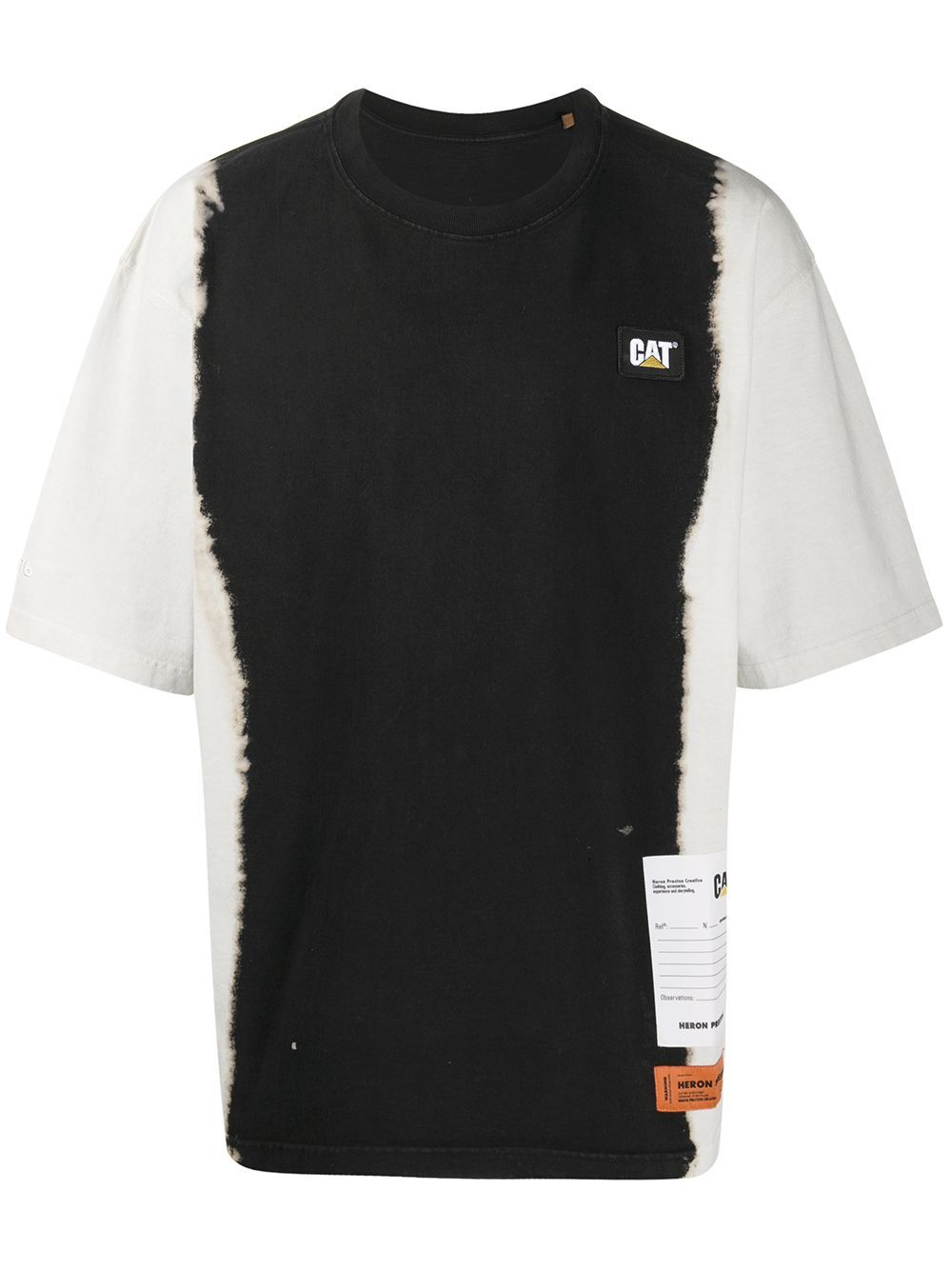 HERON PRESTON Oversized Tie Dye T-shirt Black/White - Maison De Fashion