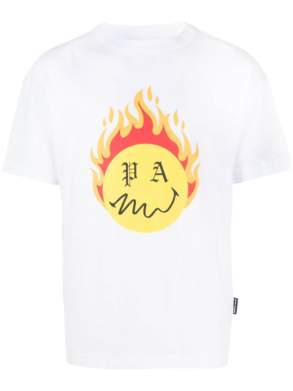 PALM ANGELS Burning Head T-Shirt White - Maison De Fashion