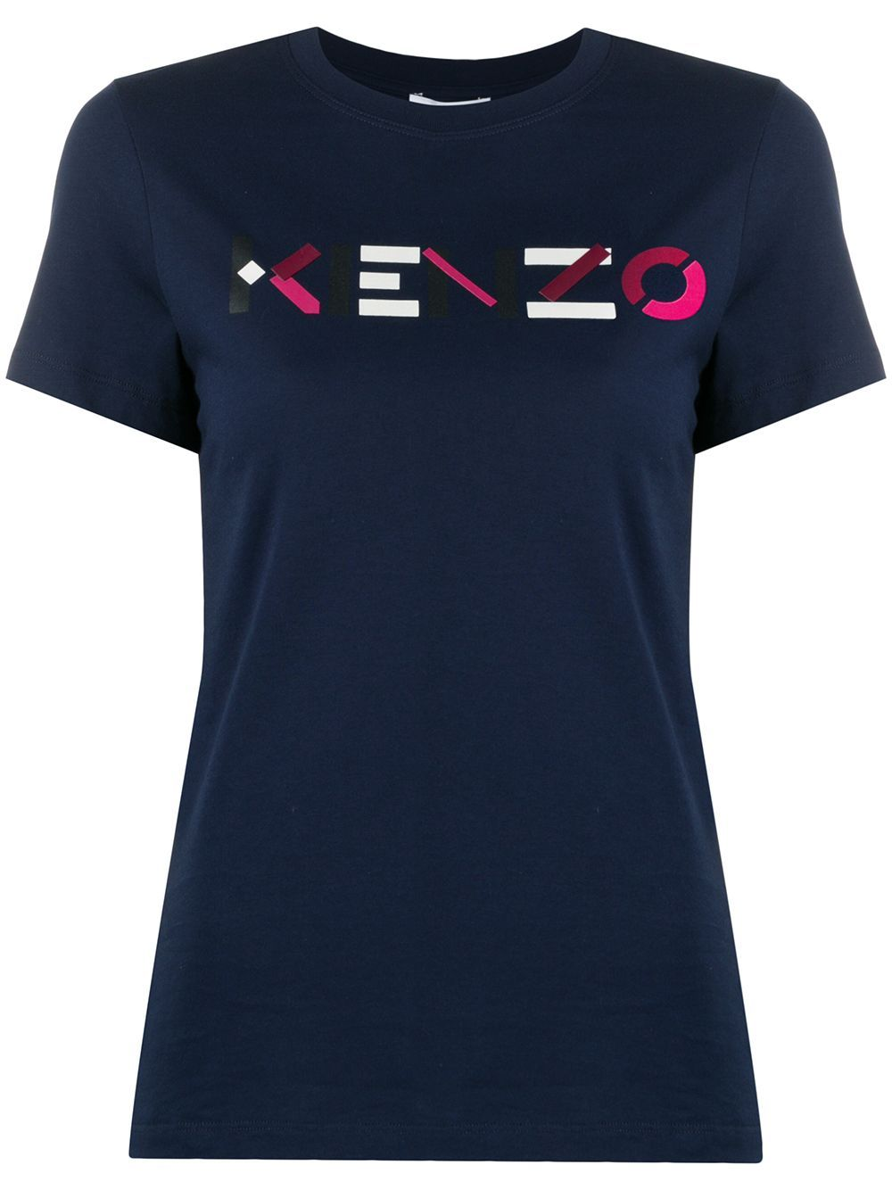 KENZO Red Logo Oversized T-Shirt Navy