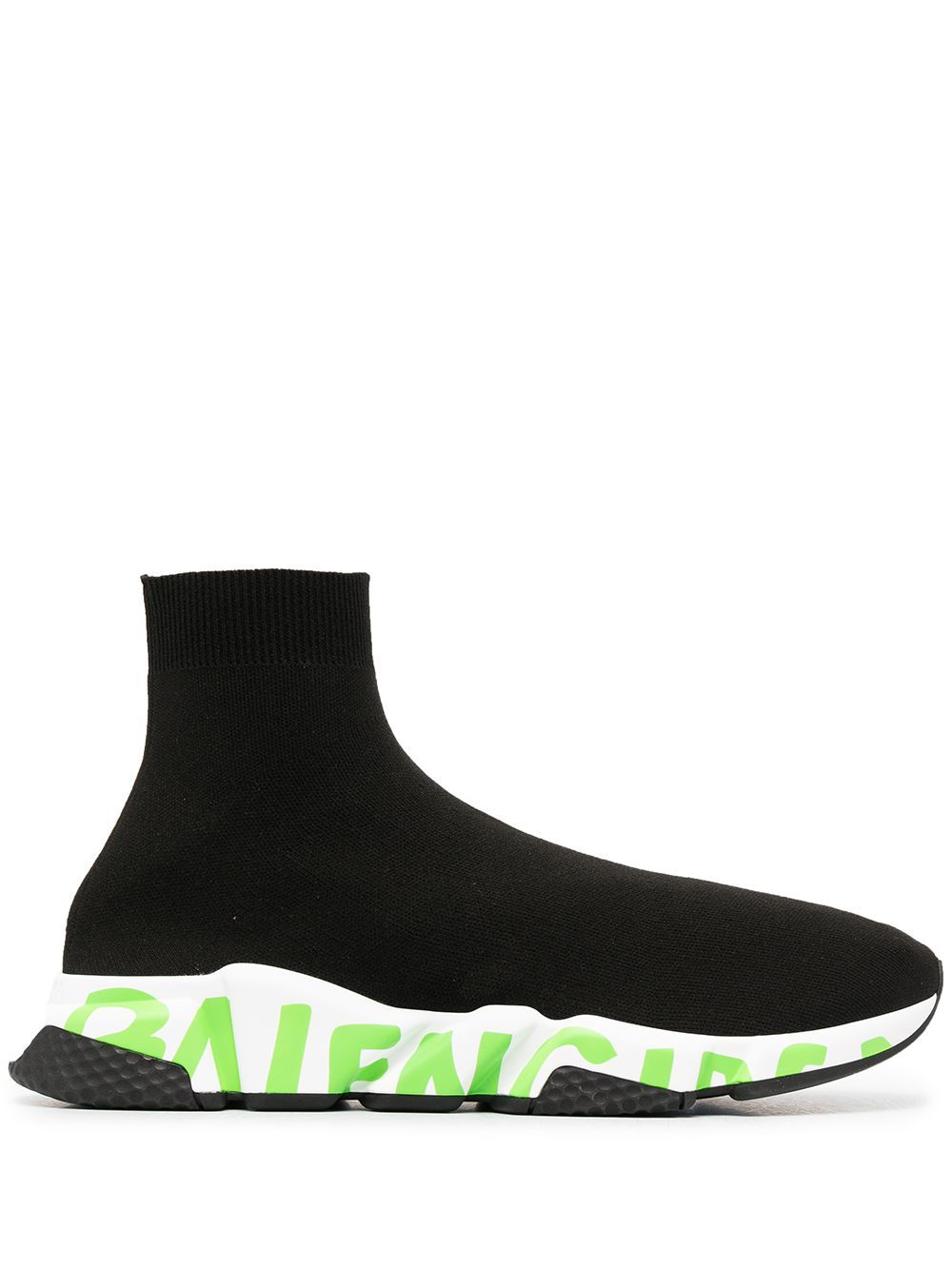 BALENCIAGA Speed Runner Green Graffiti - Maison De Fashion