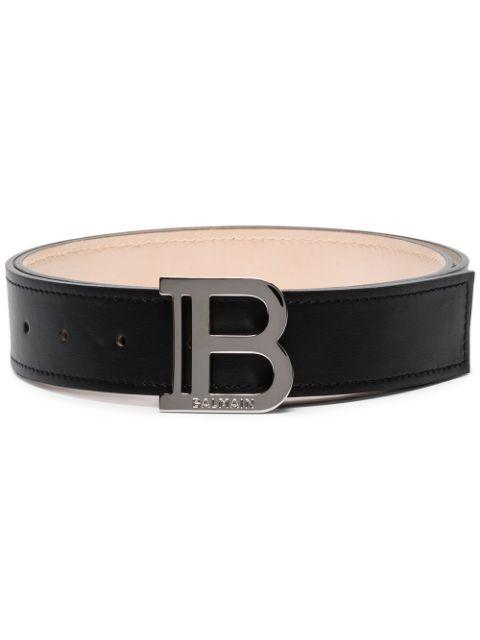 BALMAIN Logo Buckle Belt - Maison De Fashion