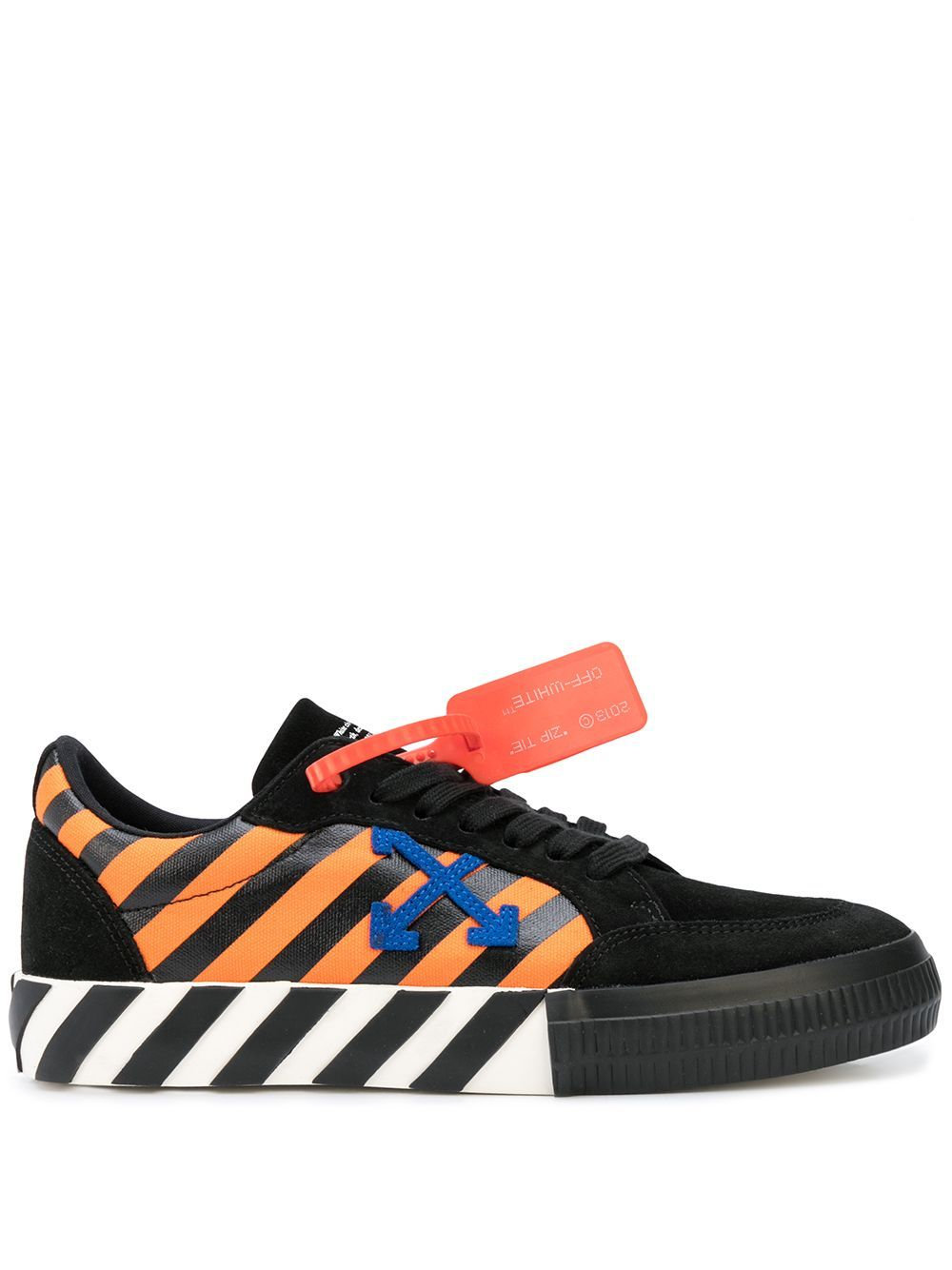 OFF-WHITE diagonal low vulcanized orange/blue