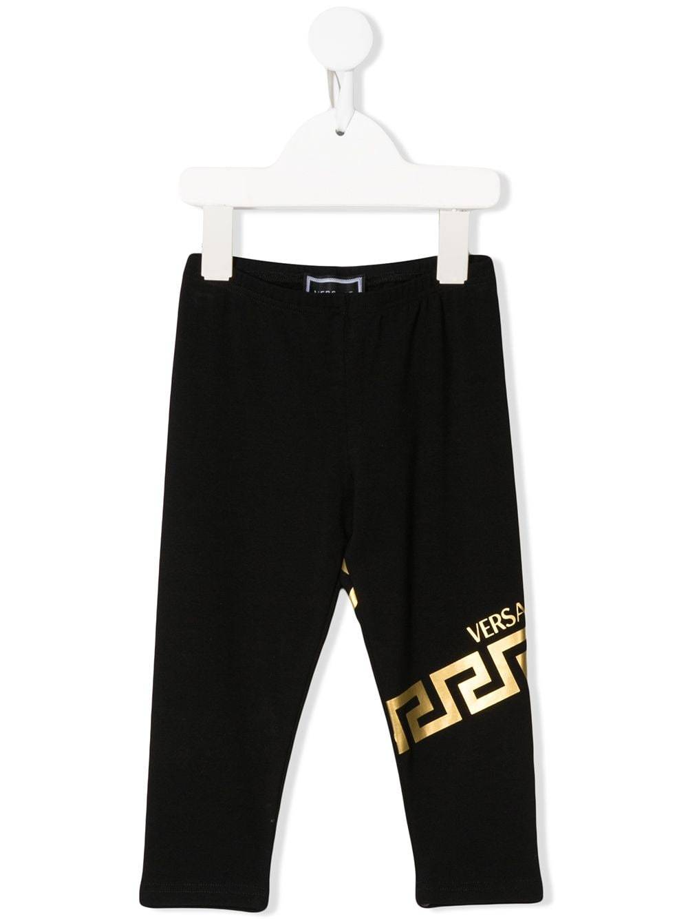 VERSACE KIDS logo print leggings black - Maison De Fashion