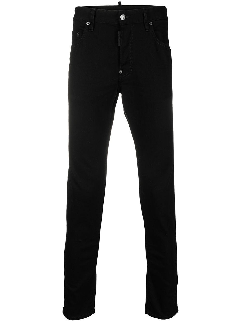 DSQUARED2 Skinny Logo Patch Jeans Black