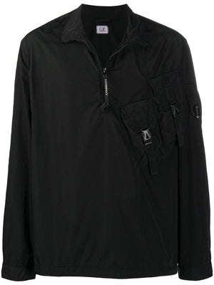 C.P COMPANY Half Zip Fitted Jacket Black - Maison De Fashion