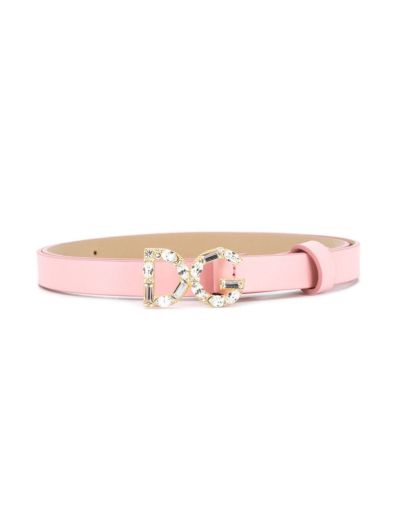 DOLCE & GABBANA KIDS 'DG' Buckle Belt - Maison De Fashion