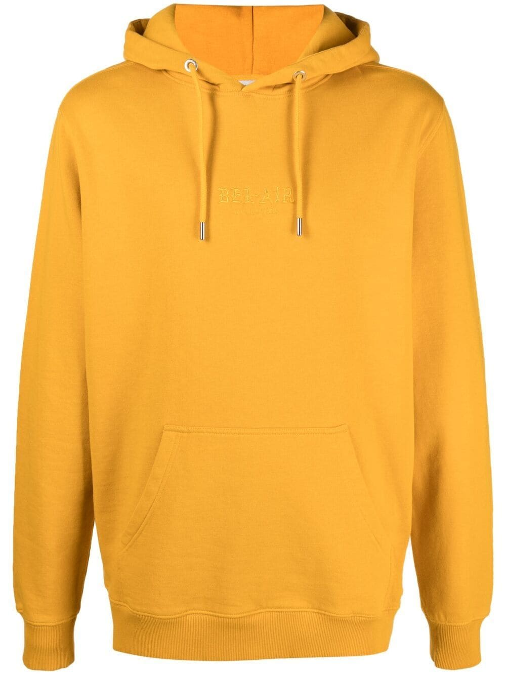 BEL-AIR ATHLETICS Gothic Font Hoodie Yellow