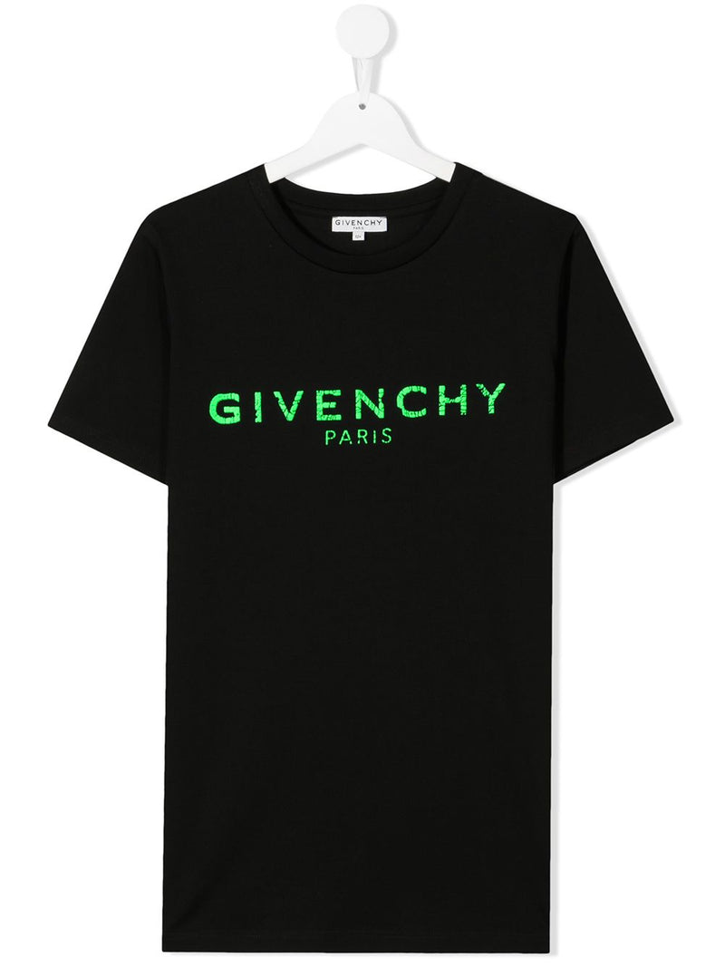 GIVENCHY KIDS Cracked Logo T-Shirt Black