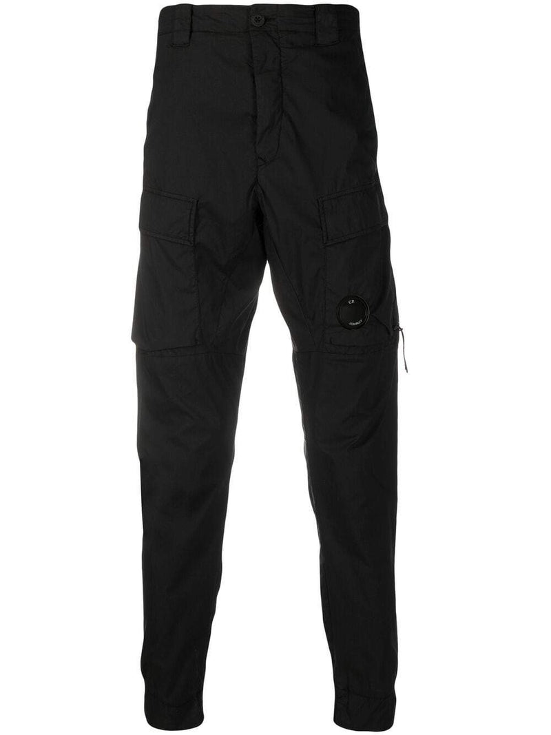 C.P. COMPANY Slim Cargo Trousers Black