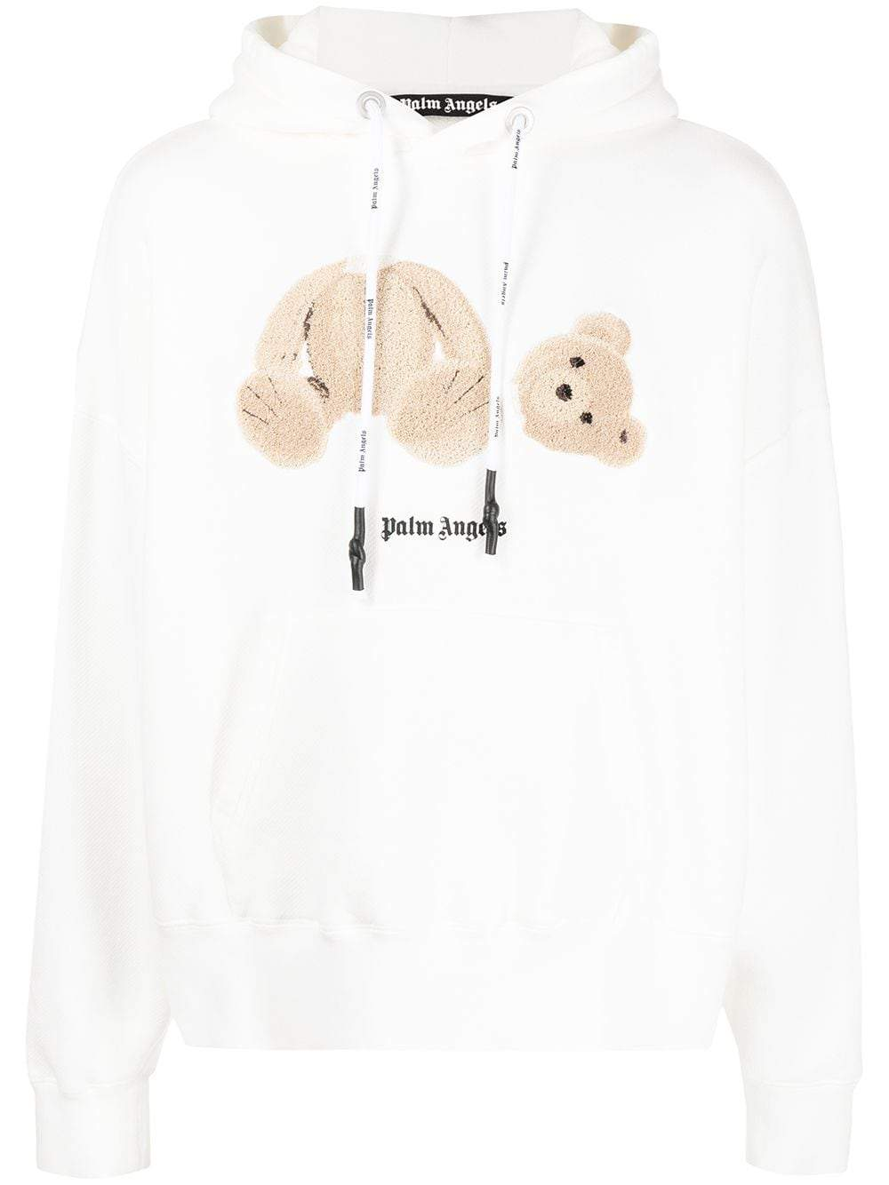 PALM ANGELS Bear Hoodie White