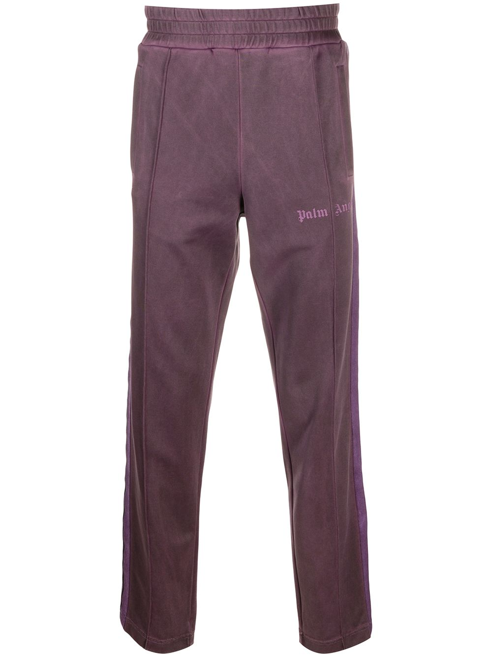 PALM ANGELS Garment Dyed Track Pants Purple