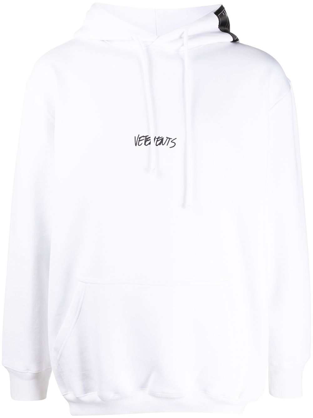 VETEMENTS Written Logo Hoodie White