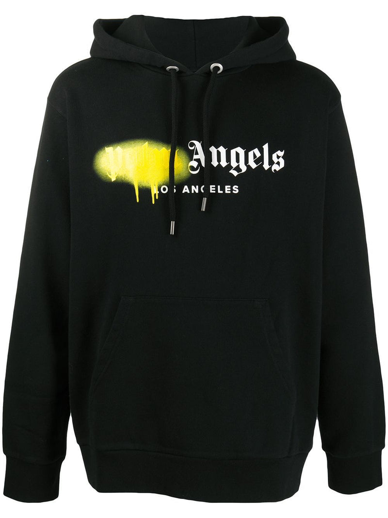 PALM ANGELS L.A. Sprayed Logo Hoodie Black
