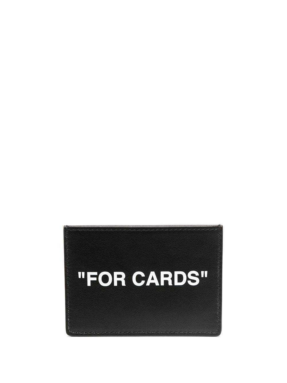 OFF-WHITE Quote Card Holder Black