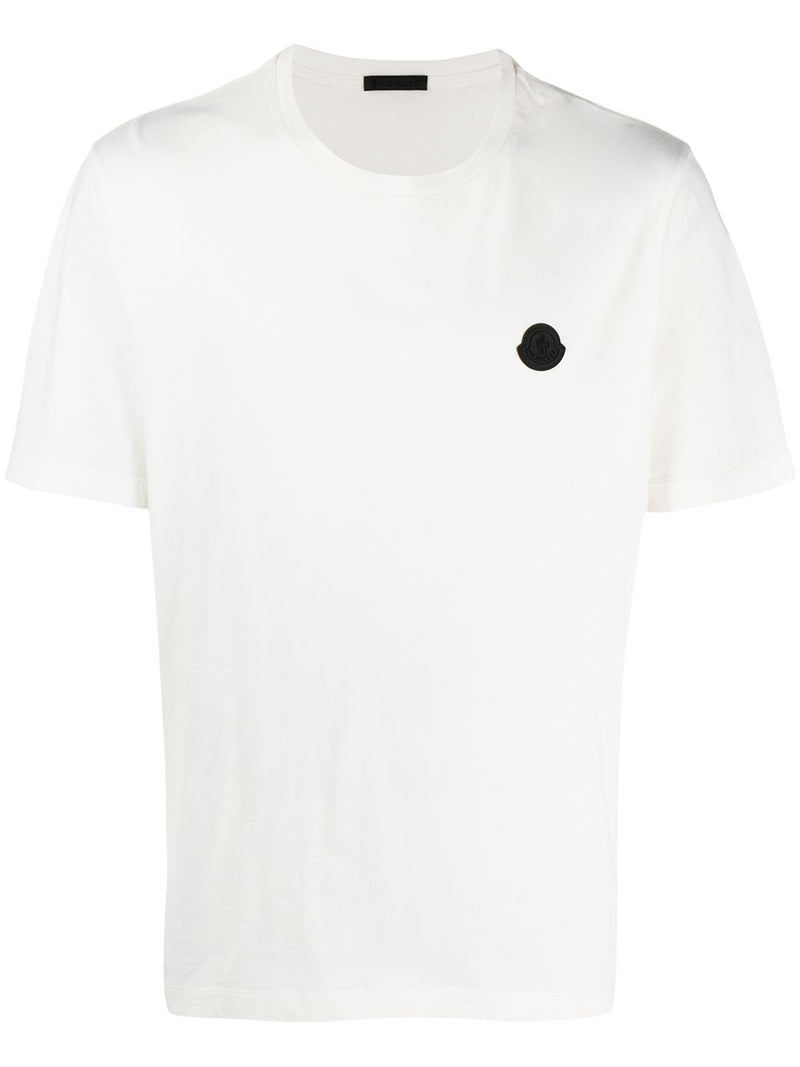 MONCLER Rubber Logo T-Shirt Off White