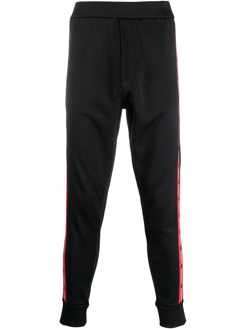 DSQUARED2 Logo Stripe Track Pants Black