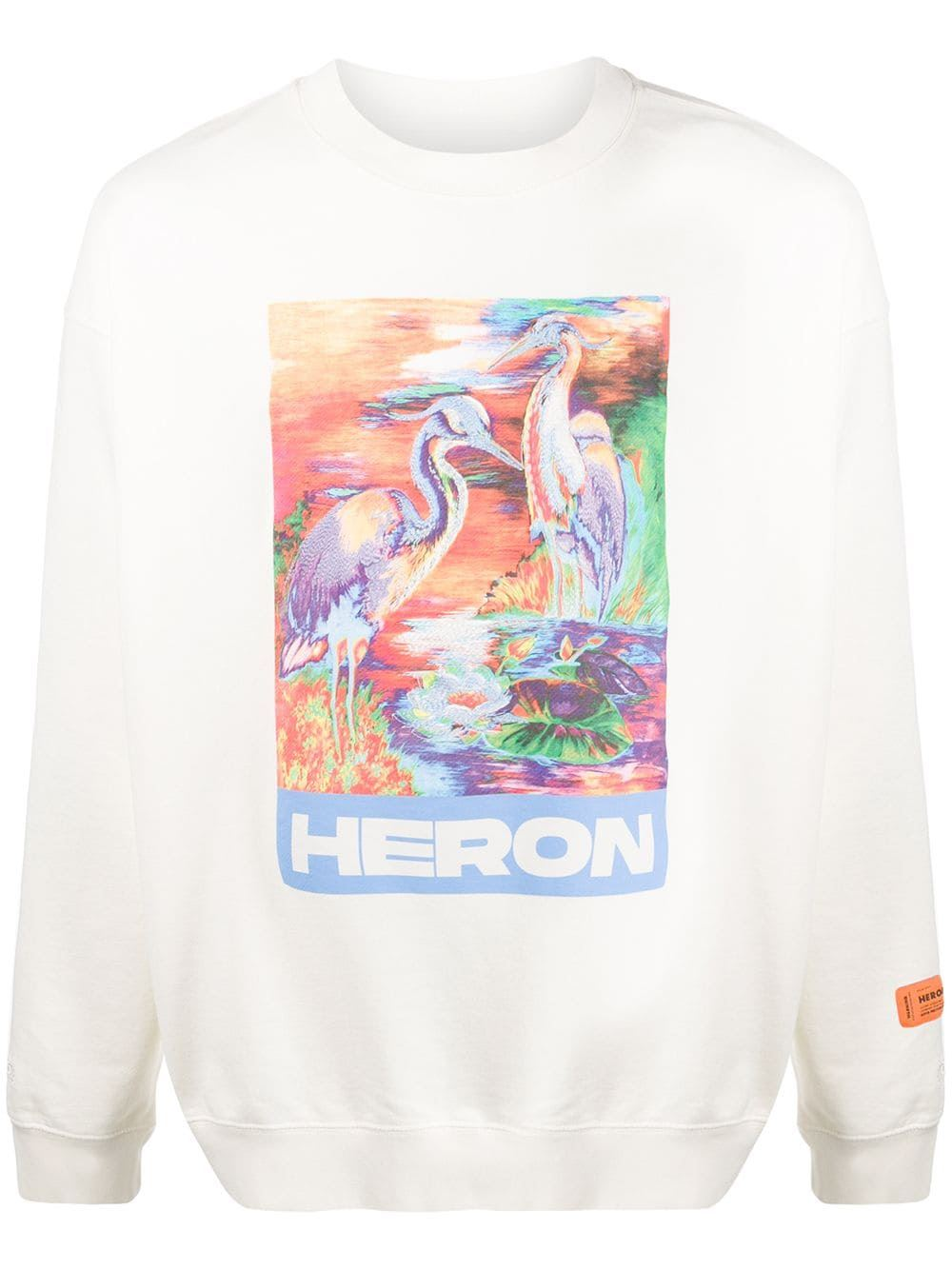 HERON PRESTON crew neck heron print sweatshirt - Maison De Fashion
