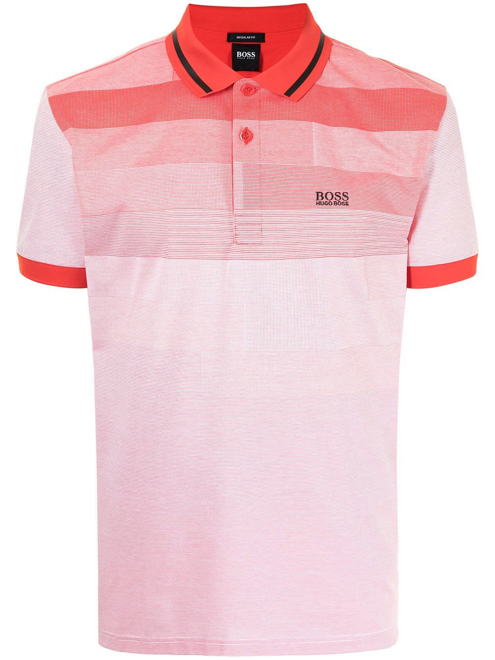 BOSS Paddy 4 Logo Polo Shirt Red