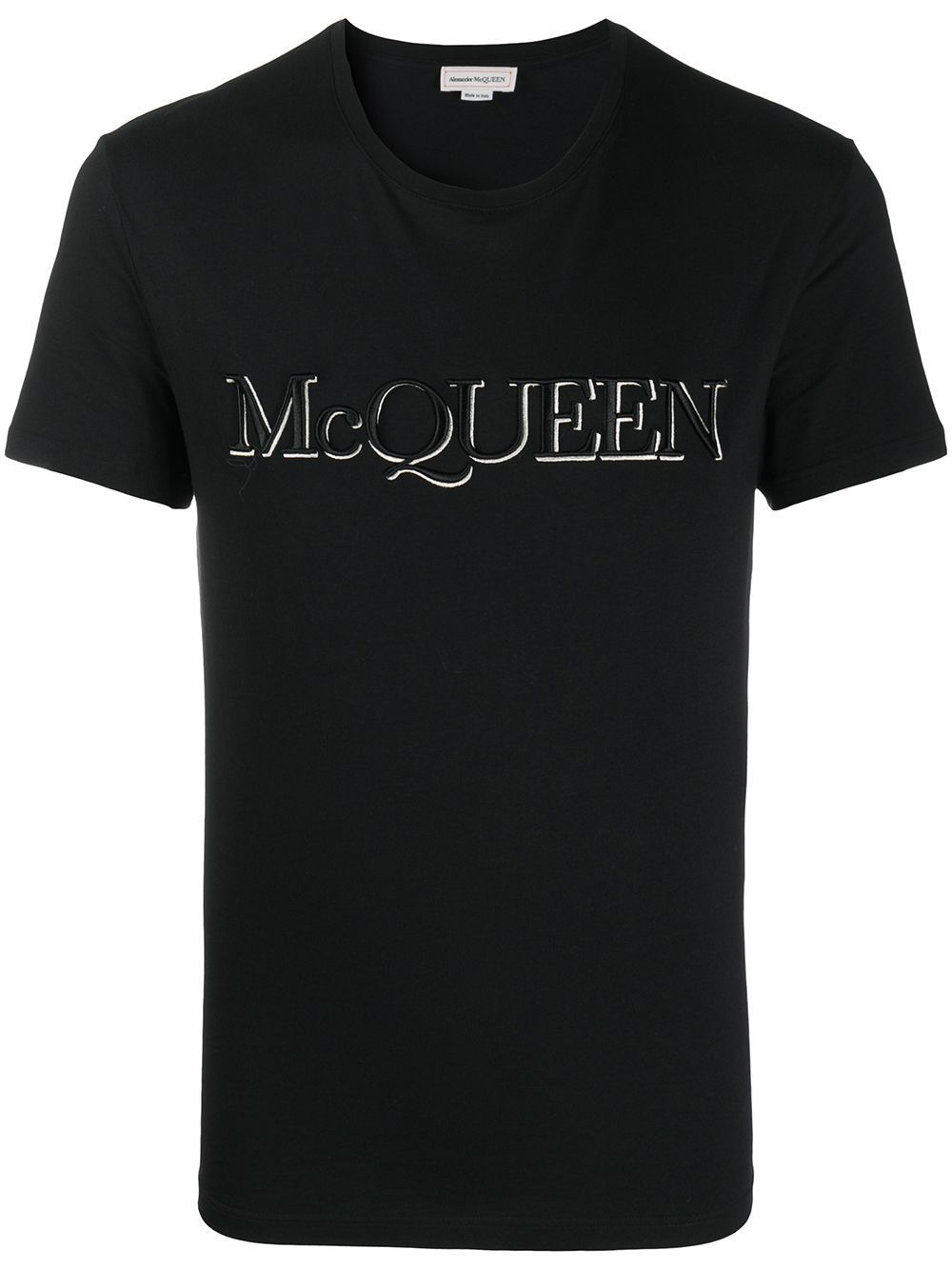 ALEXANDER MCQUEEN Embroidered Logo T-shirt Black