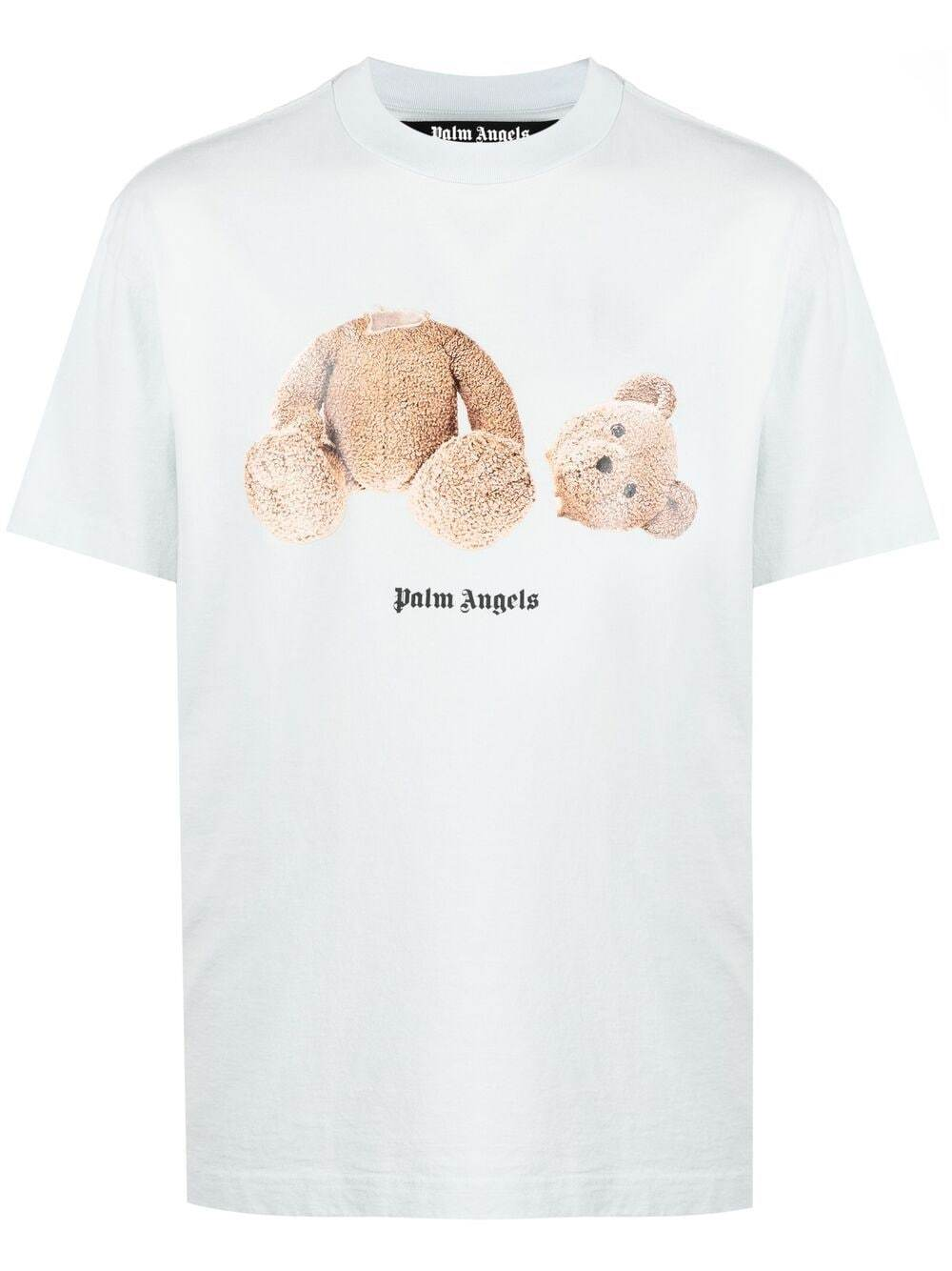 PALM ANGELS Bear Graphic T-Shirt Blue