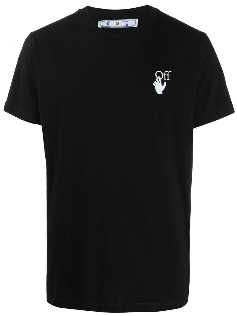 OFF-WHITE Marker Slim T-Shirt Black/Fuchasia