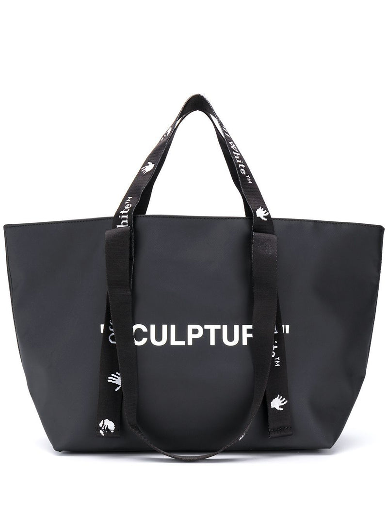 OFF-WHITE Sculpture Small Tote Bag Black/White