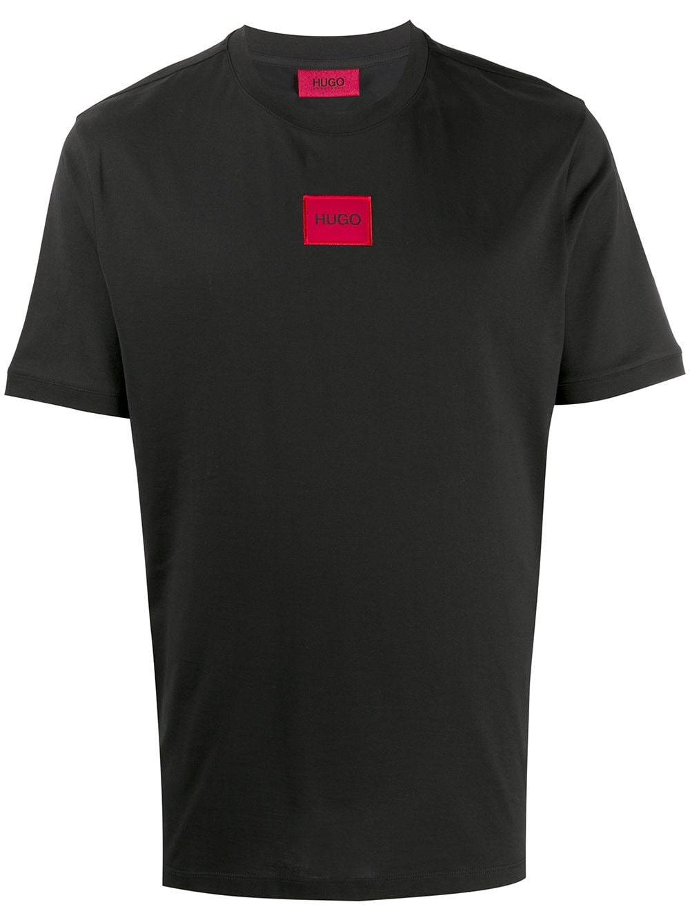HUGO Red Square Logo T-Shirt Black