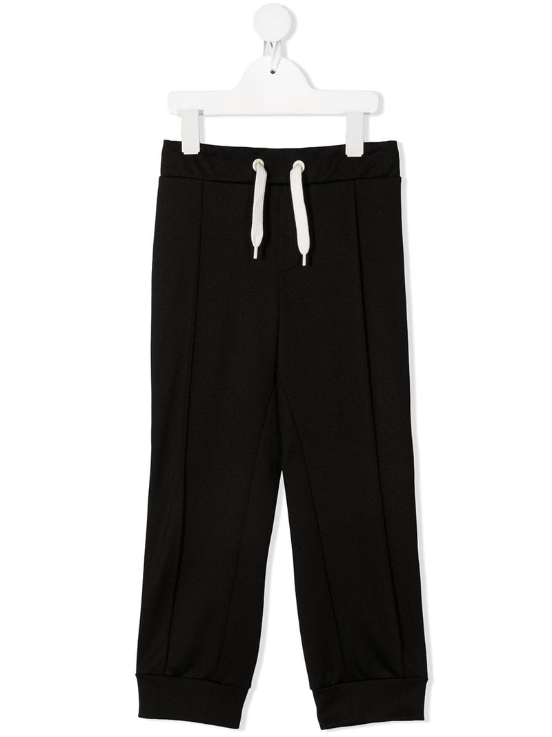 FENDI KIDS Logo Panel Track Pants Black