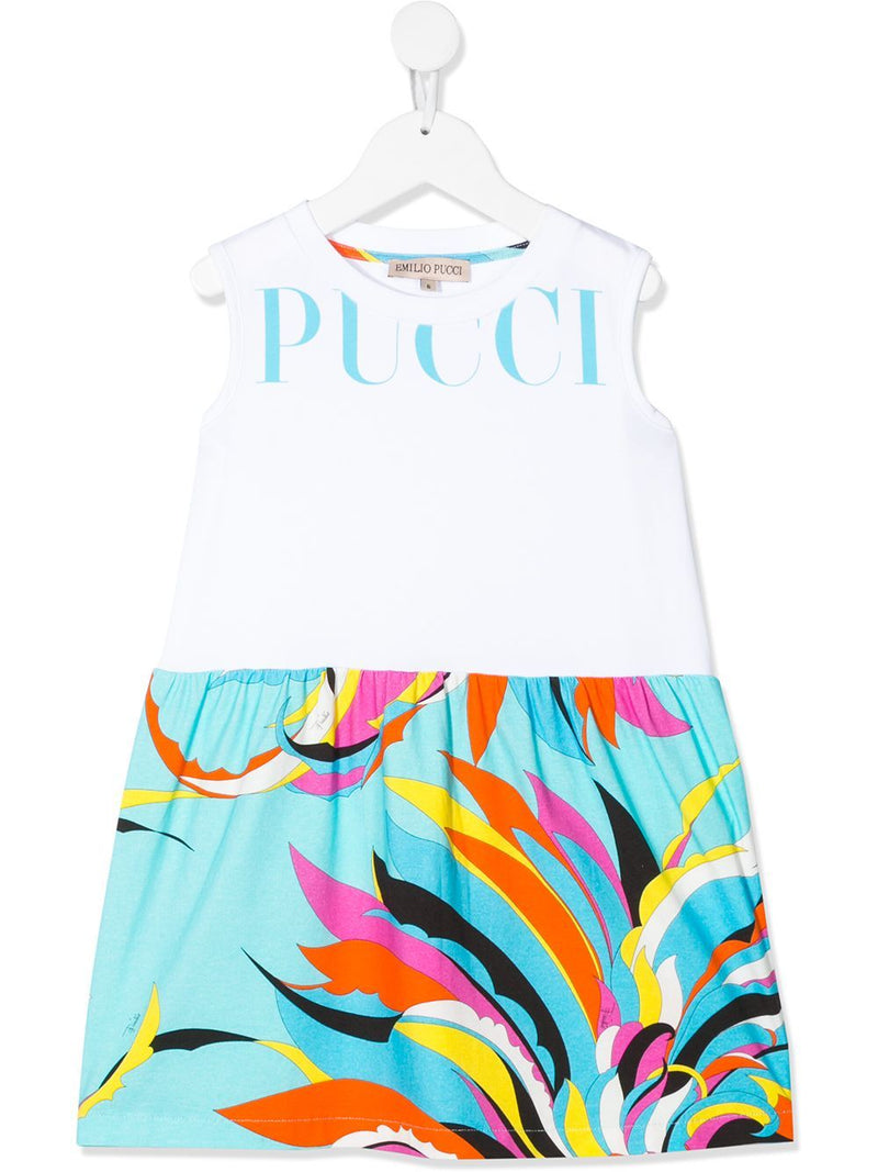 EMILIO PUCCI KIDS swirl-print dress white