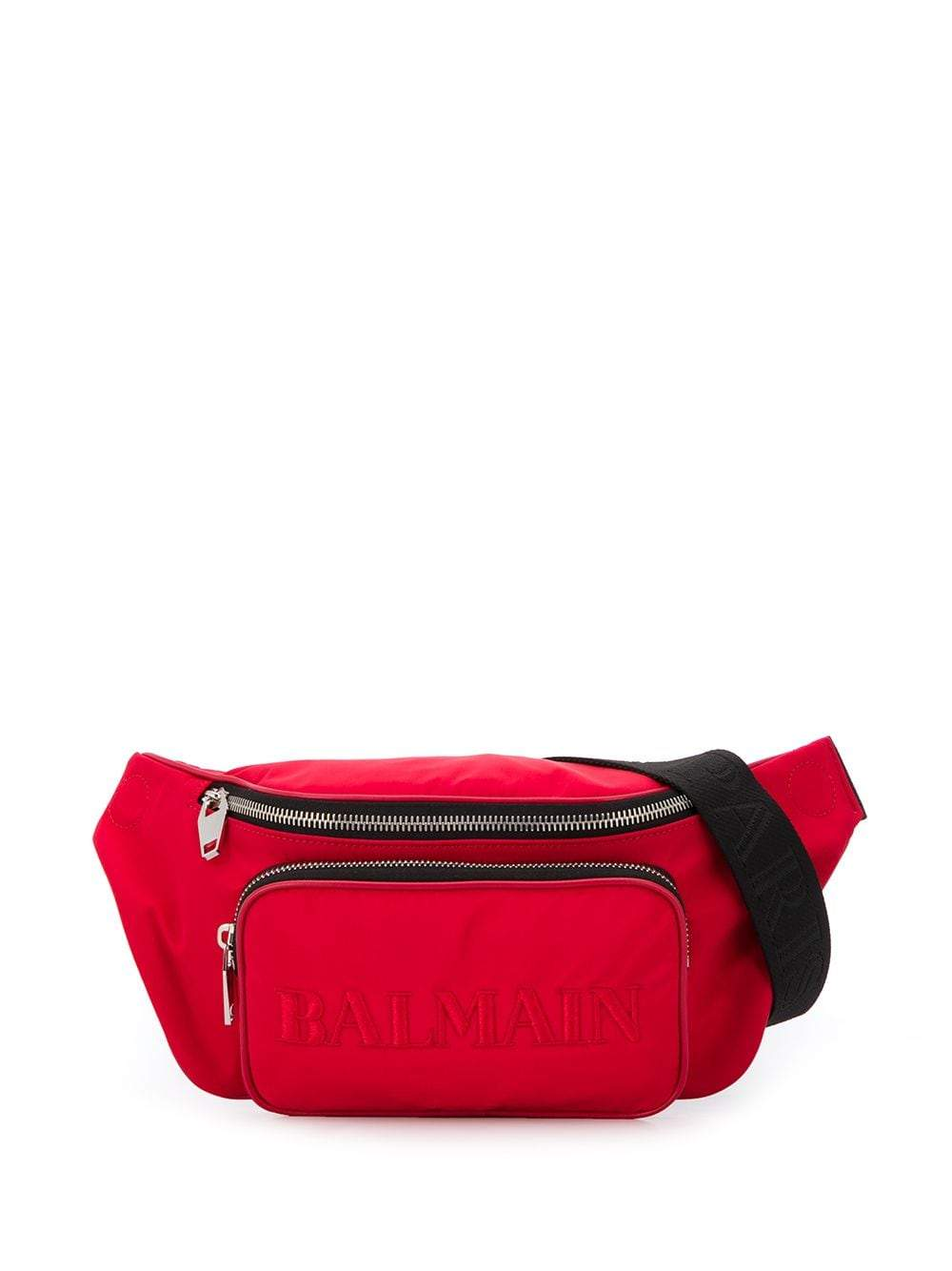 BALMAIN Embroidered Logo Crossbody Bag