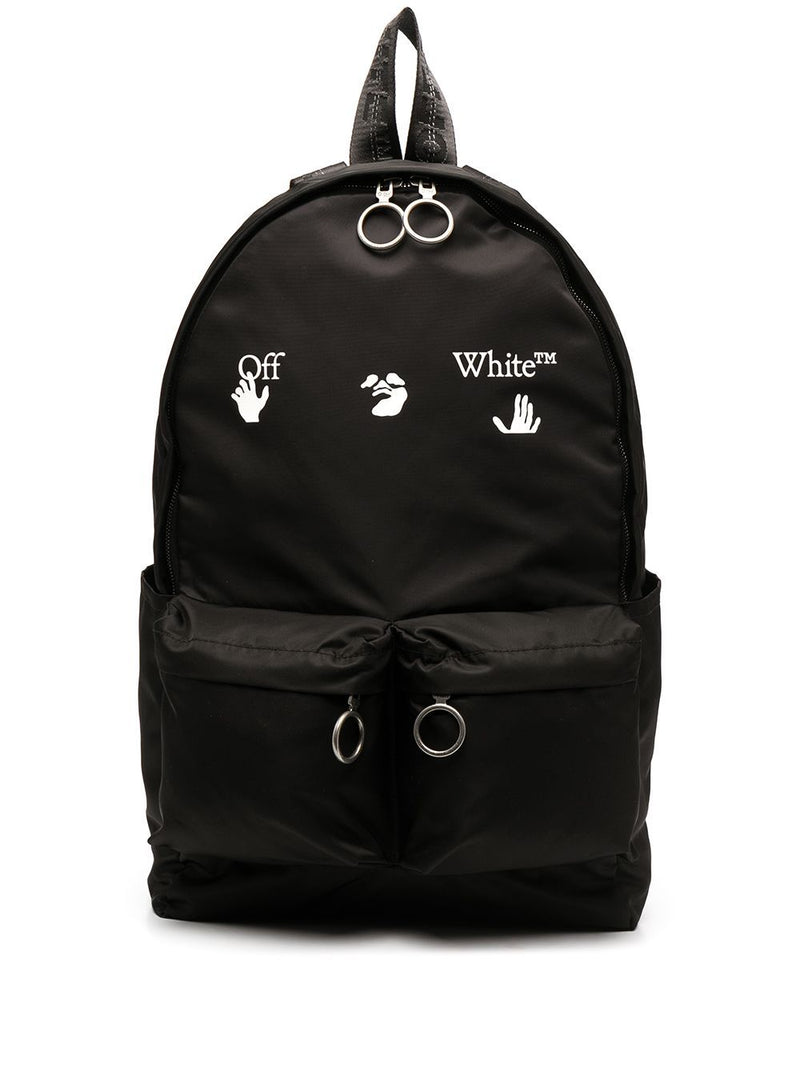 OFF-WHITE Logo Backpack Black/White